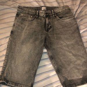 Grey Calvin Klein Jean shorts